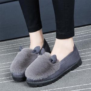【多款多色】时尚百搭加厚毛绒豆豆鞋