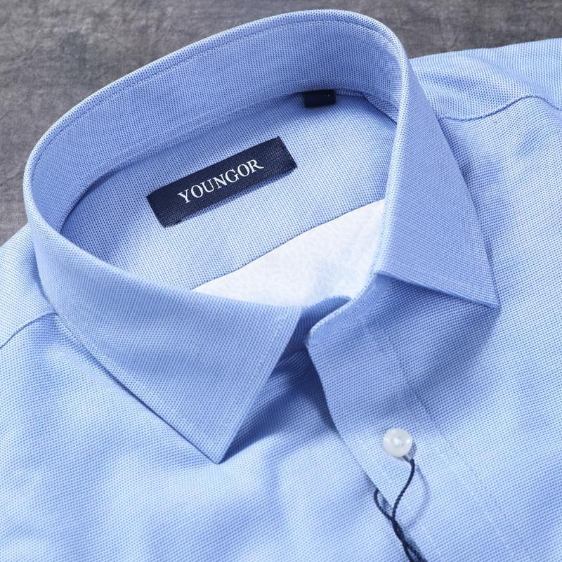 雅戈尔秋冬季新款男士衬衣加绒厚款a男士商务正装衬衫YLBN12648HBA