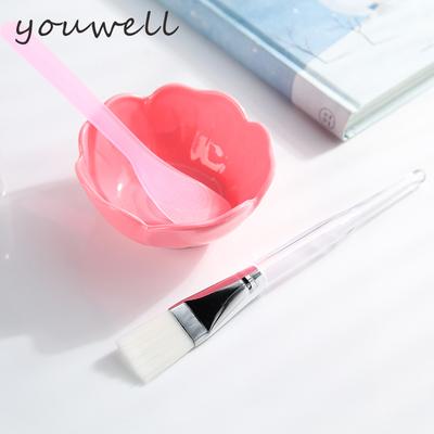 允薇DIY面膜碗工具 化妆自制美容水疗工具压缩面膜碗棒/刷三件套