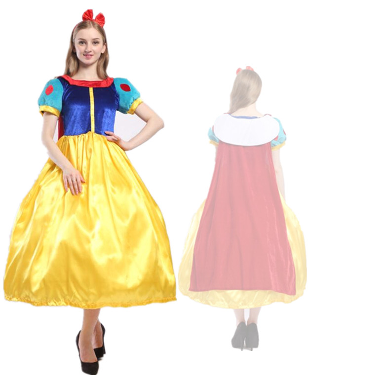 迪亲子士尼成人Dress children Snow White dress Prince costume Cosplay
