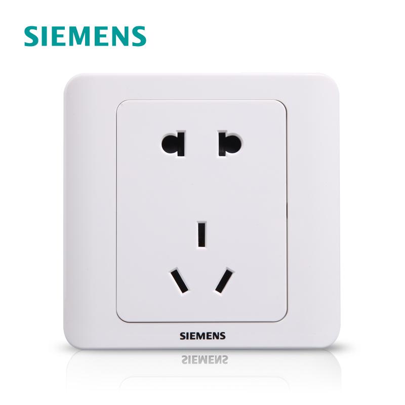 西门子开关插座远景雅白86型五孔USB一开16a墙壁空调家用面板正品