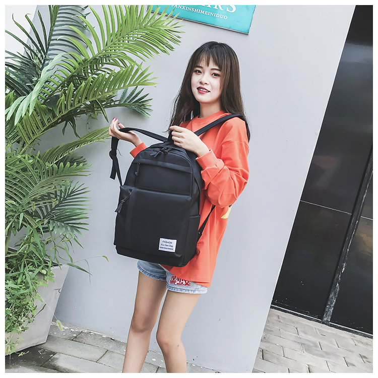 Ultra-light simple canvas backpack XC190427119556