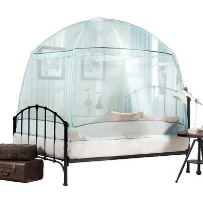 夏维怡蒙古包蚊帐三开门儿童有底拉链加高U型1.8米床双人家用