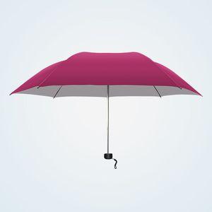【侃统雨伞7骨防晒防雨单人银胶雨伞】