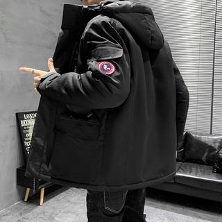 Ветровки,  2020 новый хлопок мужской одежды женский осенний черный бархат сгущаться tide любители случайный теплый закрытый куртка пальто, цена 2646 руб