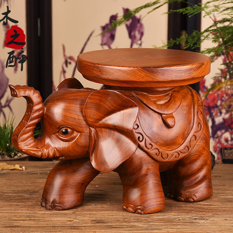 Peachy Usd 470 00 Wood Drunk Pear Carved Elephant Decoration Solid Andrewgaddart Wooden Chair Designs For Living Room Andrewgaddartcom