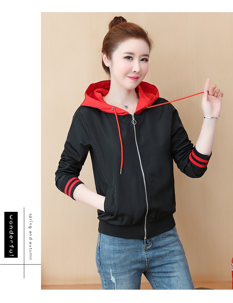 Casual hooded short jacket lady a hundred with spring and autumn 2020 new zip jacket clothes small 56 Online shopping Bangladesh