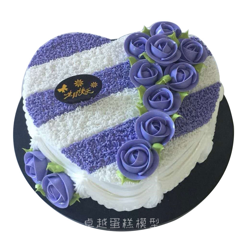 Simulation Cake Model New Framed Flower Love Heart Shaped