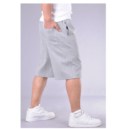 Mùa hè phần mỏng bông lỏng của nam giới thể thao quần short trung niên cắt quần quần âu kích thước lớn cha 7 quần