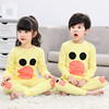 Children's Qiuyi Qiuku suit cotton girls 5 boys 6 thermal underwear 8 cotton sweaters 9 years old children thin section