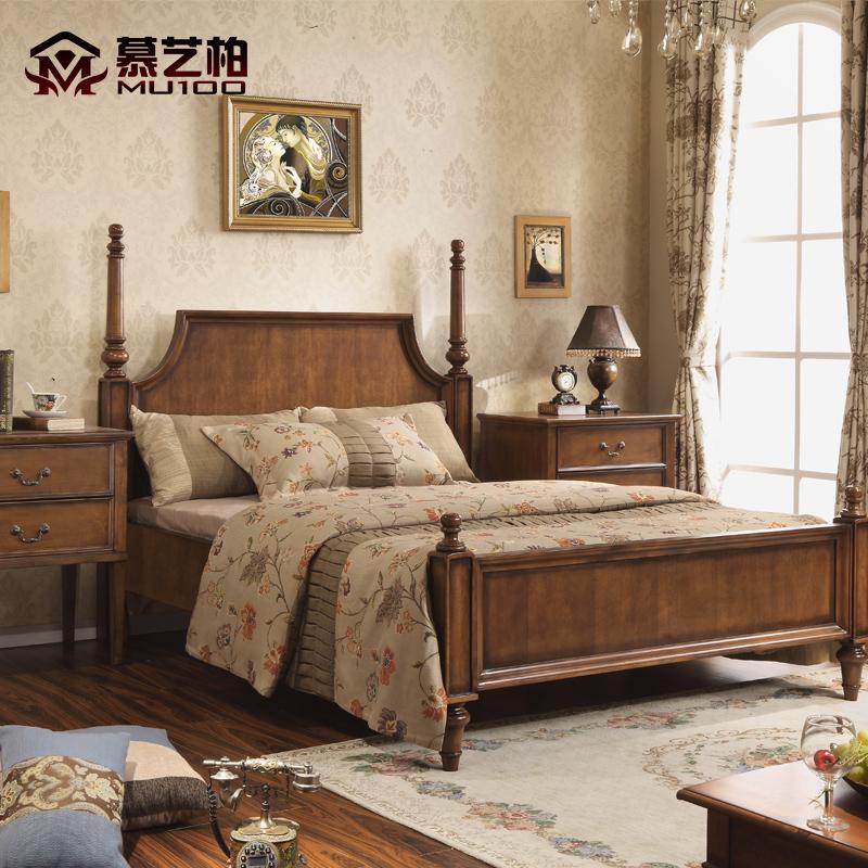 Восхищаться искусство кипарис американский деревянные кровати господь ложь небольшой квартира континентальный двуспальная кровать современный простой брак кровать свет экстравагантный мебель