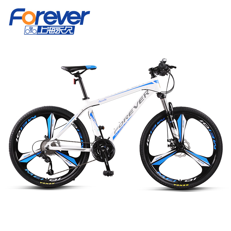 27-SPEED ALUMINUM FRAME / THREE-KNIFE ONE WHEEL (WHITE-BLUE)