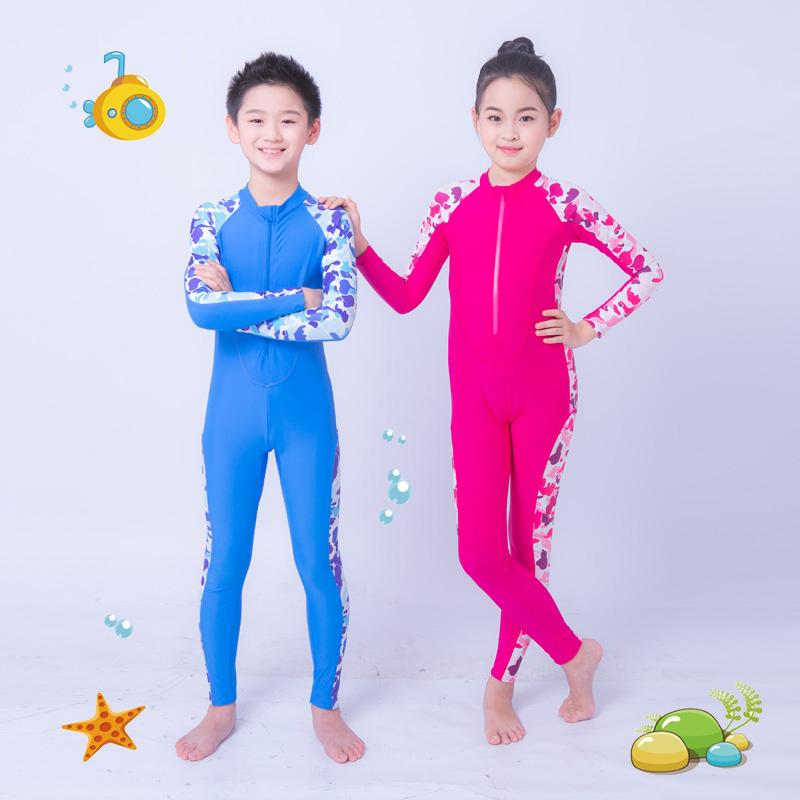 Đồ bơi trẻ em Sanqi nữ bé trai và bé gái trong bộ đồ thể thao bé trai kết hợp áo choàng dài công chúa nhỏ dễ thương của Hàn Quốc - Bộ đồ bơi của Kid