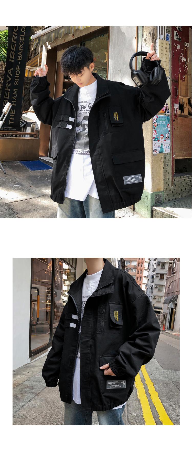 2020春装新款 多口袋设计男士立领夹克外套 M107/P88 控价108