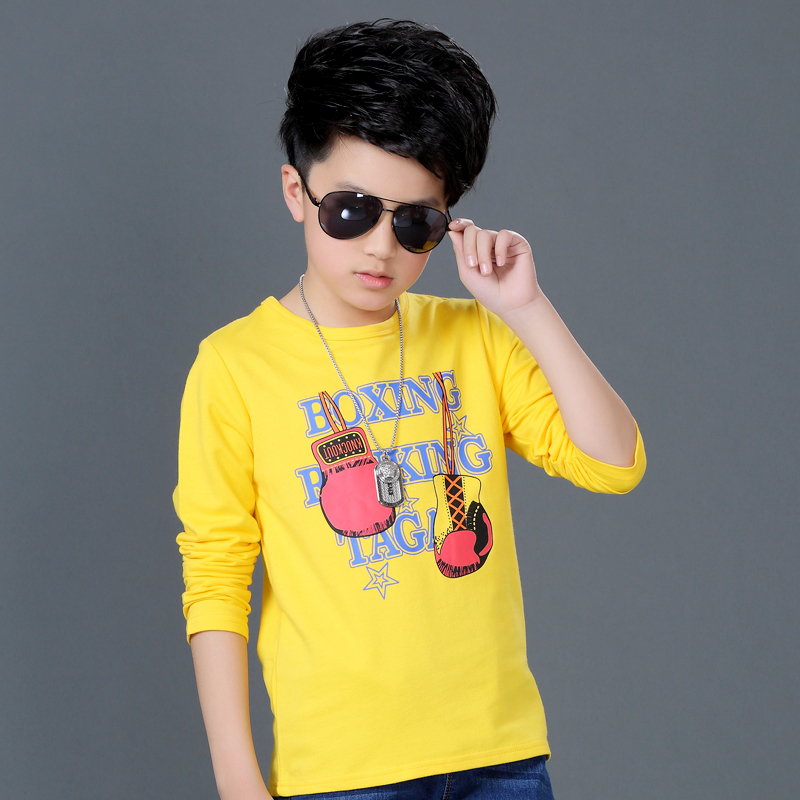 2e262c44ccb Children s clothing boys long-sleeved T-shirt spring 2019 New children s  bottoming shirt in the spring and autumn Korean casual shirt