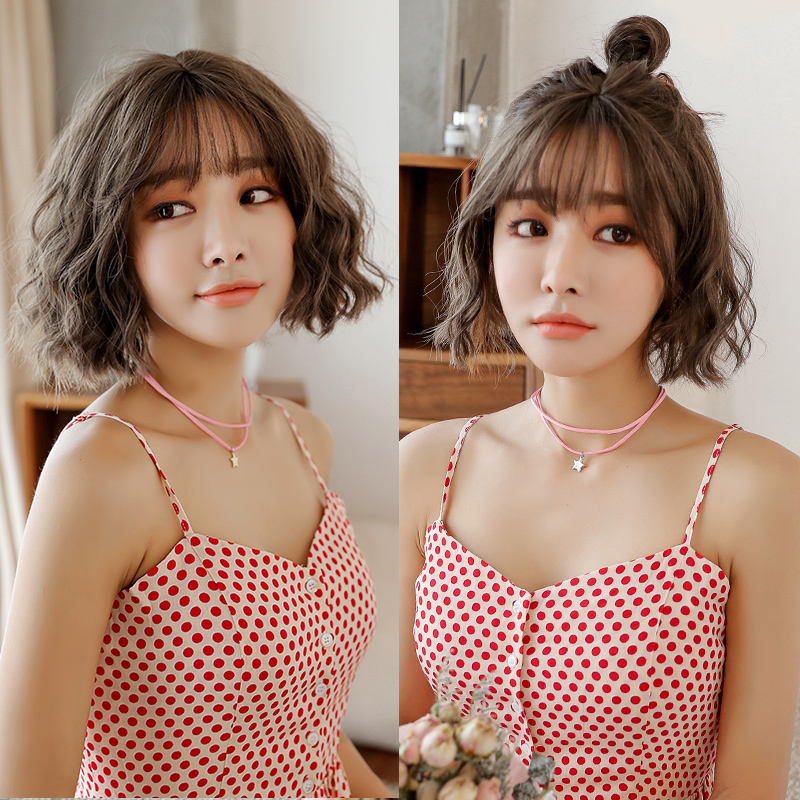 Wig Female Short Hair Curly Corn Bobo Korean