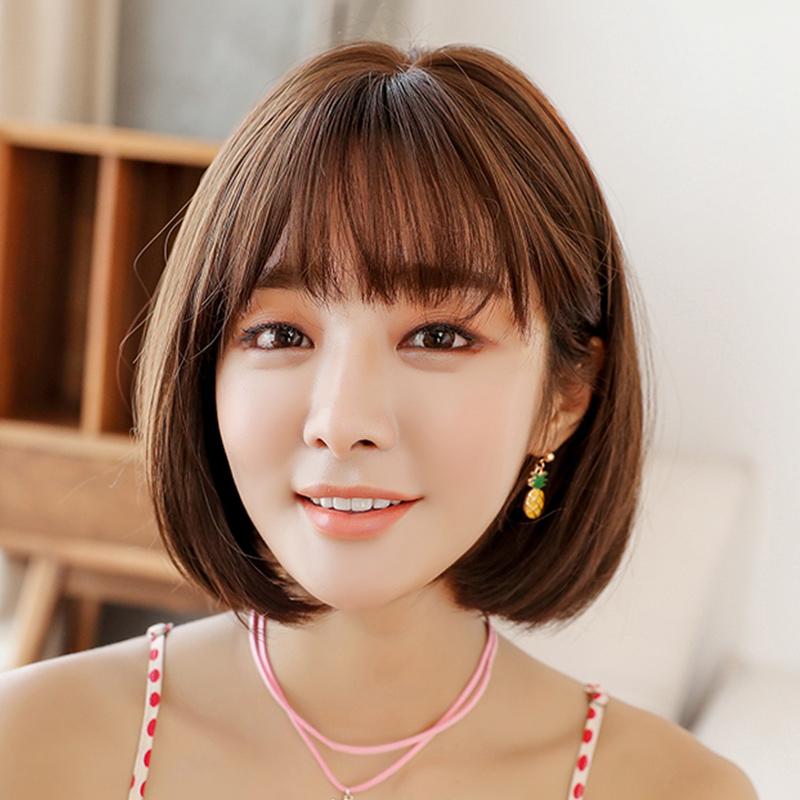 Usd 36 55 Wig Female Short Hair Round Face Bobo Korea Wave Head