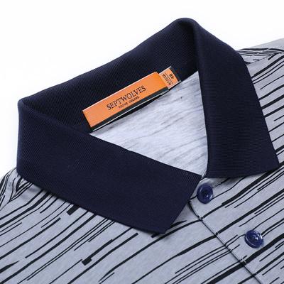 Bảy con sói ngắn tay T-Shirt nam 2018 mùa hè mới mượt cotton nam cotton ve áo polo áo sơ mi nam triều áo thun unisex Áo phông ngắn