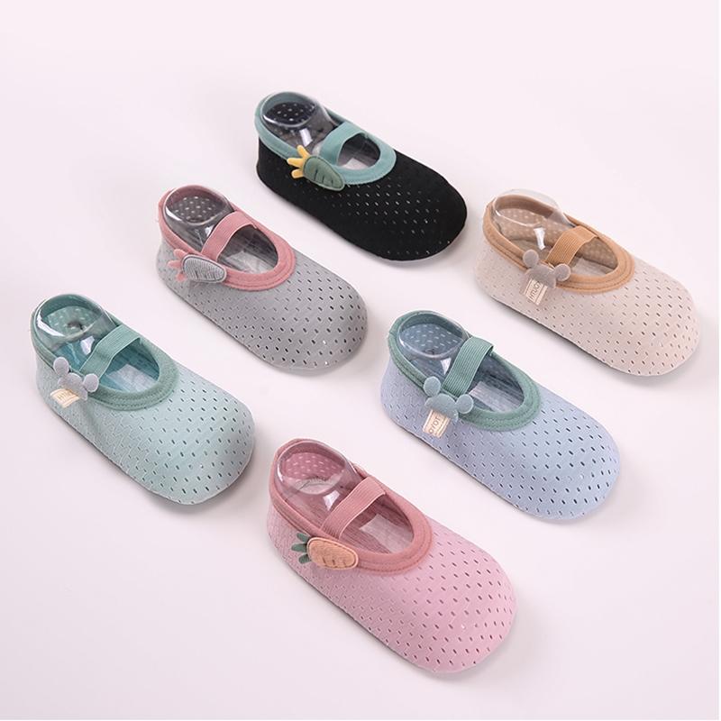 春夏薄款儿童袜套室内厚底隔凉防滑亲子地板袜宝宝婴幼儿学步鞋袜