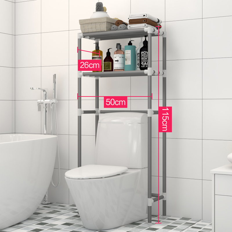 Simple two-story-toilet rack