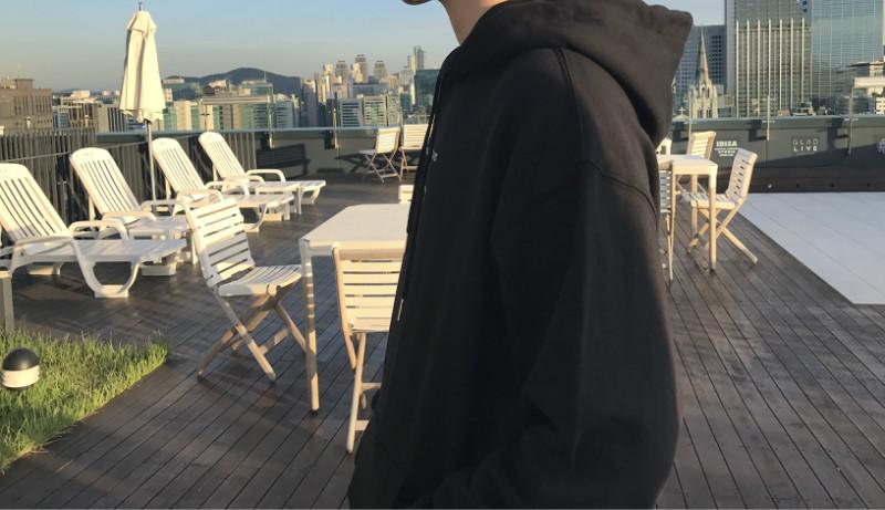 Ông Fang inch tự chế mùa thu Hàn Quốc phiên bản của nam giới in áo len lỏng vai trùm đầu trùm đầu áo len áo mùa thu áo len