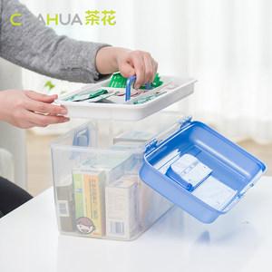 茶花塑料医药箱大号收纳箱多功能家庭医用药品箱多层医疗箱