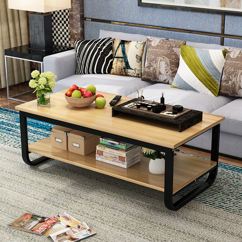 Amazing Usd 49 50 Steel Wood Coffee Table Simple Modern Wooden Bralicious Painted Fabric Chair Ideas Braliciousco