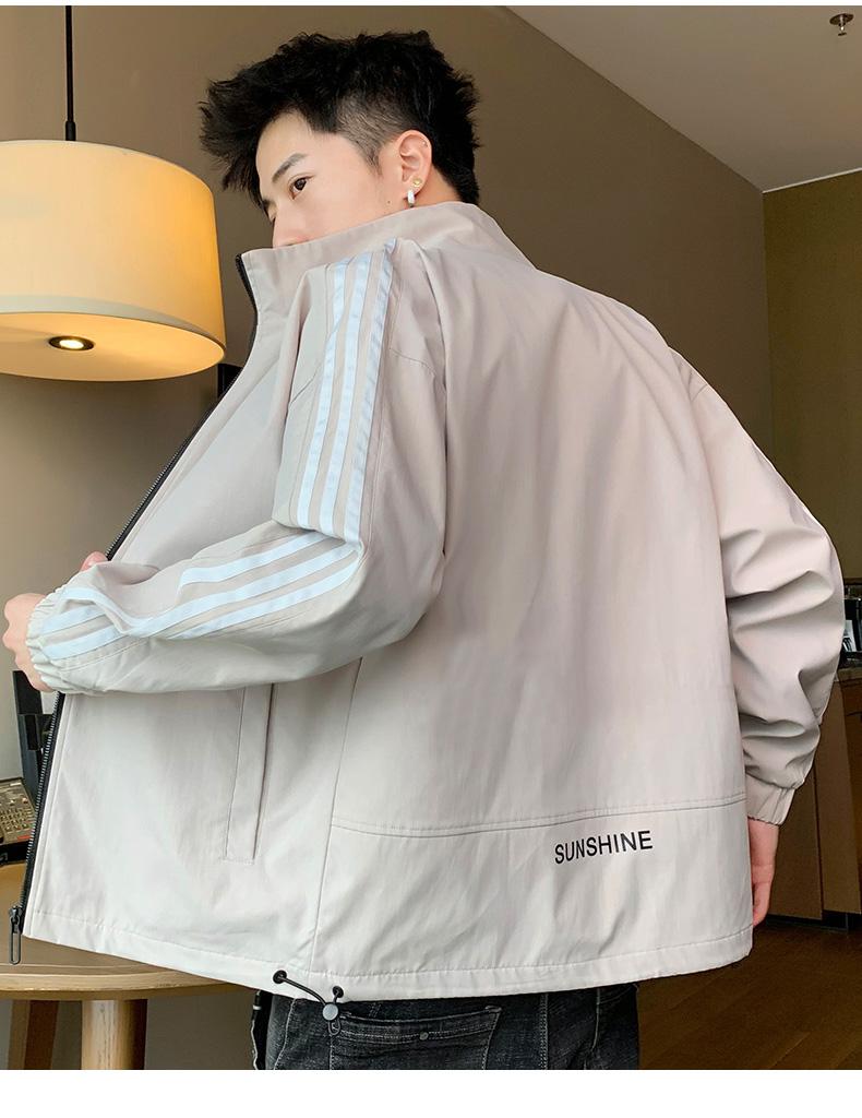 主图在详情大货夹克男2020春秋季新款休闲修身夹克外套时尚男士秀