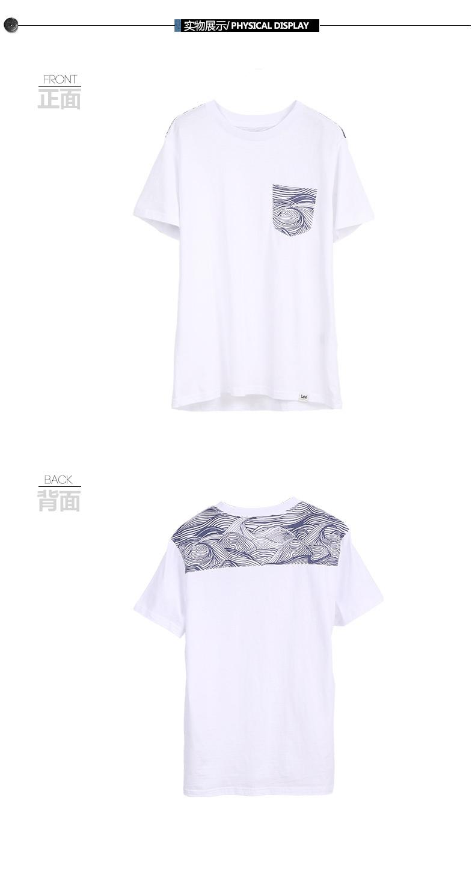 Lee của Nam Giới 2017 Mới Pocket In Casual Hoang Trắng Ngắn Tay Áo T-Shirt L270102LQ3XD áo phông nam đẹp