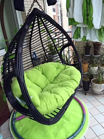 Rocking Chair Hanging Basket Rattan Chair Indoor Double Hanging Chair  Single Bird Nest Balcony Chair Swing ...