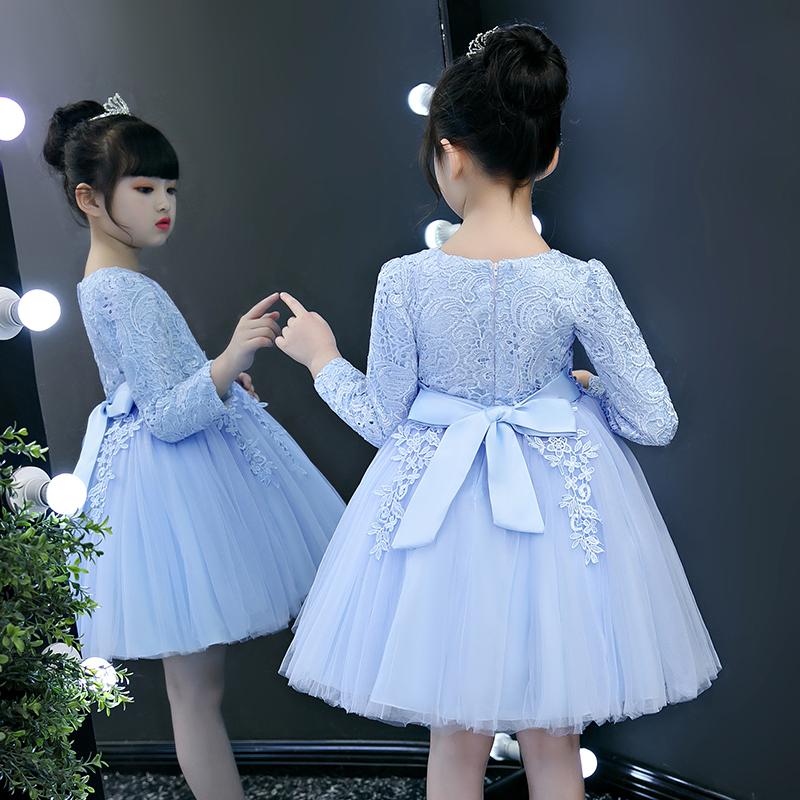 На девочку Платье осень 2018 новая коллекция детские платье замшевый Иностранная юбка длинный рукав Маленькая девочка осень-зима для маленькой принцессы юбка
