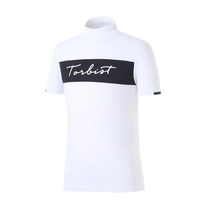 Mùa xuân mới 2019 mua hàng Hàn Quốc TORBIS * quần áo chơi gôn cho nam áo thun tay ngắn cổ cao GOLF - Golf