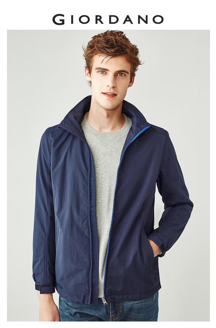 Giordano nam áo khoác mỏng lưới lót windproof áo gió nam thể thao áo khoác không thấm nước nam 01077007