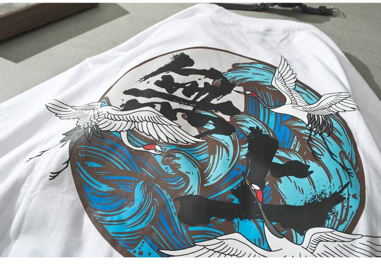 Mùa hè mới kích thước lớn xu hướng nam ngắn tay T-Shirt cotton nửa tay phong cách Trung Quốc tối cao Bodhi lỏng những người yêu thích