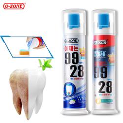 韩国进口o-zone珍珠瓷白牙膏包邮去口臭美白去黄口气清新正品