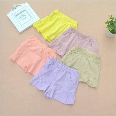 2016 new female baby cotton shorts summer children's casual pants thin section of children's hot pants 3 pants 9616