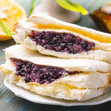 紫米面包软糯夹心奶酪糕点吐司蛋糕营养早餐蒸小零食品整箱110g*6