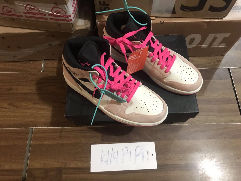 Air Jordan 1 Mid AJ1 Bột bẩn Suede Lakers Giày bóng rổ cừu Mỹ 852542-801 - Giày bóng rổ