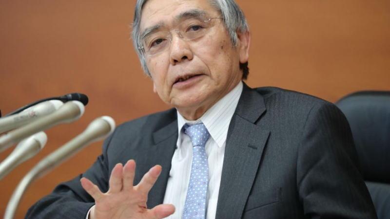 日本央行黑田东彦呼吁采取财政,货币政策组合措施以刺激经济增长