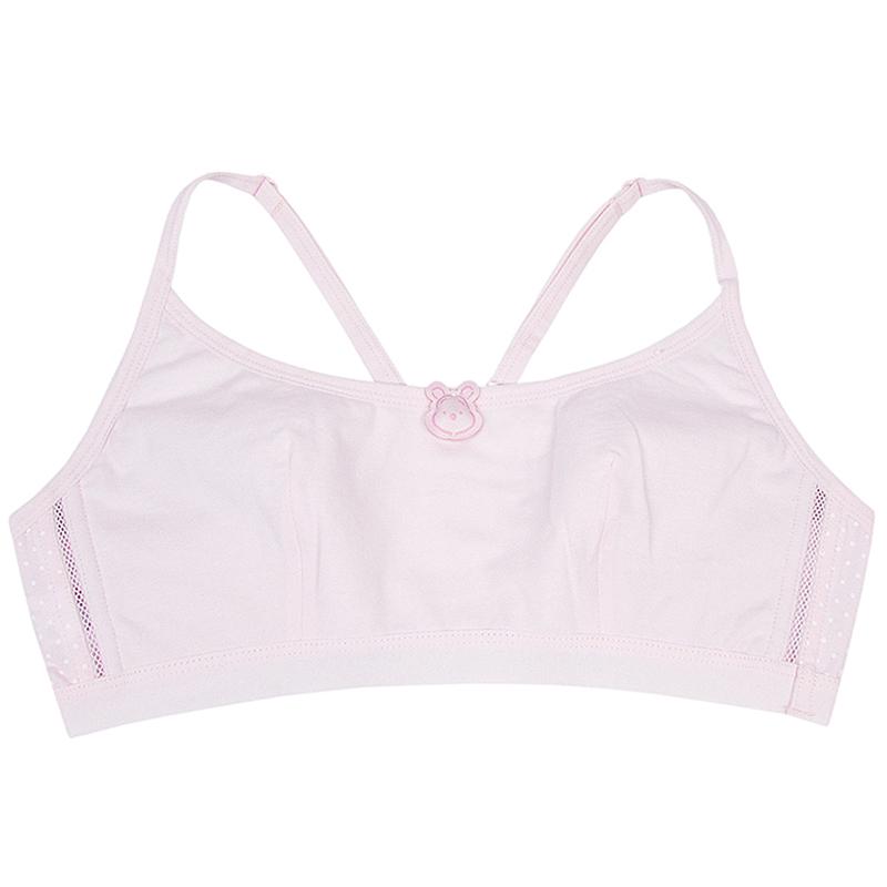 574d6131411 3 pieces of cotton girl bra development student underwear junior high  school bra sports vest large size ...