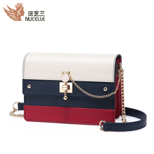 New Zealand bag for women 2018 new fashionable and all-around Korean style messenger fashion one shoulder small square bag chain bag summer