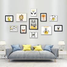Jingyu multi frame simple European creative combination photo wall living room bedroom photo wall photo frame wall hanging wall