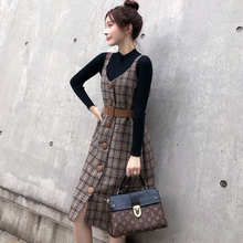 Two autumn and winter suits with Wool Plaid vest
