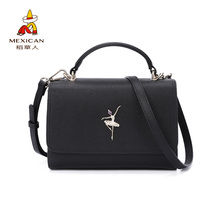 Scarecrow women's bag 2018 new women's messenger bag portable single shoulder bag simple and fashionable small square bag