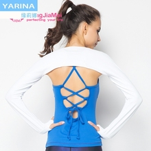Yarina Yoga suit shawl women's professional yoga exercise fitness quick drying shoulder protection training suit air conditioning warm
