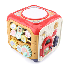 Baby's hand clapping drum baby toy children's music clapping drum hexahedron early education intelligence can be charged 0-1 year old June