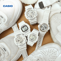 Casio flagship store g-shop tough pure white series men's and women's sports watch Casio official website 2018 Limited