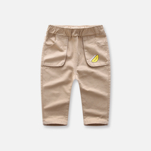 Children wear long pants outside in spring and autumn, boys and girls pure cotton casual pants, baby trend pants