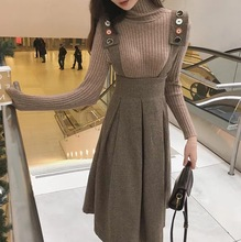 Large new fall and winter Vintage sweater with back skirt