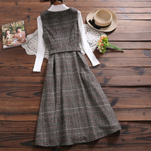 Woolen new style Plaid Dress